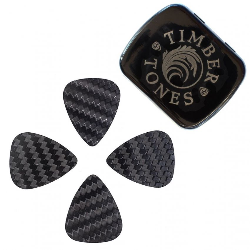 Carbon Tones - Tin of 4 Guitar Picks | Timber Tones